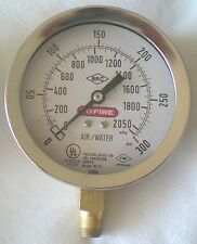 """BRC Model W101 4"""" 0-300 PSI Fire Protection Service Gauge – Used -B"""