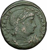Constantine I The Great 330AD Ancient Roman Coin Legions  Glory of Army i35057