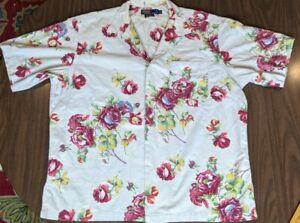 Polo By Ralph Lauren Berkley Floral Button Up Short Sleeve Shirt Mens Sz XL