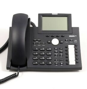 Snom 370 VOIP IP phone with digital screen