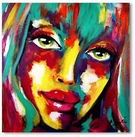 Unikat Portrait Mädchen Gemälde Kunst Abstrakt Wandbild Acrylmalerei Nr. 1057