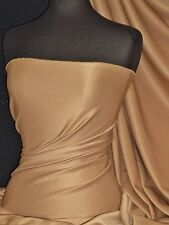 Camel Scuba 4 Way Stretch Poly Lycra Fabric Q792 CML