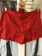 womens lacoste shorts Red 4