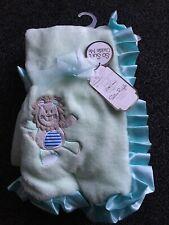 Little Dreams Satin Ruffle Blanket - Mint Green