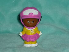 Fisher Price Little People African American Olympic Ski Snowboard Girl Helmet