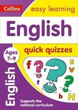 Collins Easy Learning Book - ENGLISH: QUICK QUIZZES - AGES 7-9 - NEW