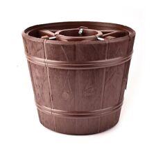 Brown LARGE CHRISTMAS Stand For Real Tree Barrel Style Traditional Christmas Pot