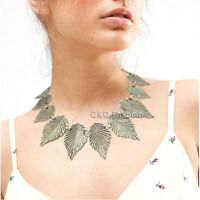 Greek Roman Goddess Vintage Laurel Toga Leaf Collar Bib Necklace Bridal Gift