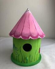 ~New Handmade Hand Painted Bird House Garden Decor