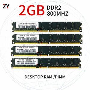 8GB kit 4x 2GB DDR2 800MHz PC2 6400U 240pin DIMM intel & AMD Desktop Memory RAM