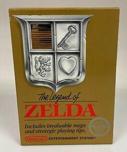 THE LEGEND OF ZELDA NES Non Rev-A 5 Screw Complete CIB MINT BOX