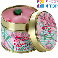 ROSE BLUSH TINNED CANDLE TIN BOMB COSMETICS FLORAL SCENTED NEW