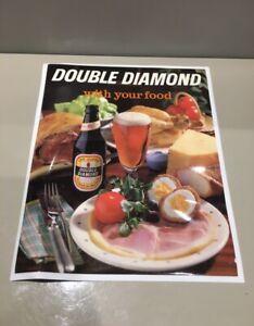Vintage Double Diamond Beer Vinyl Bar Mat, Place Mat, Bar Runner Breweriana RARE
