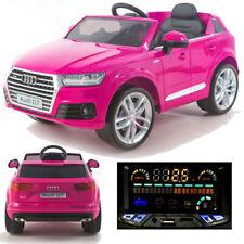 Audi Q7 quattro Kinderauto Kinderfahrzeug Kinder Elektroauto 2x Motoren 12V Pink