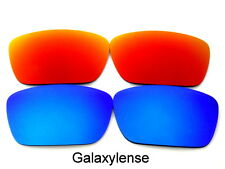 Galaxy Replacement Lenses For Oakley Fuel Cell Blue&Red Color Polarized 2 Pairs