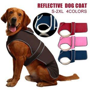 Winter Warm Pet Dog Clothes Waterproof Padded Fleece Coat Vest Jacket Reflective
