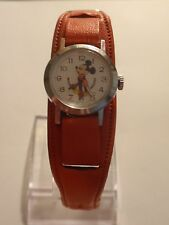 BRADLEY SWISS MICKEY MOUSE HANDS DISNEY LADIES CHILDS WATCH ORIGINAL WIDE BAND!