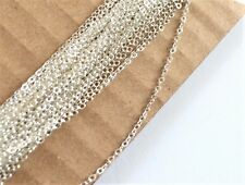 Sterling silver flat cable chain by the foot 1.6 mm links - 5 Feet footage bulk