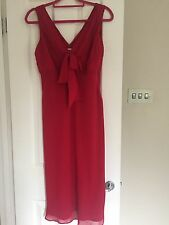 Wallis red party dress size 14 petite excellent condition