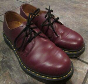 Dr Martens Cherry Bomb Matte Red 3 Eye Oxford Shoes #1461 Sz 6 Men 7 Ladies