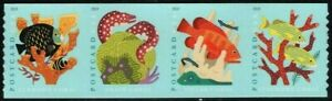 US CORAL REEFS 2019 SCOTT 5367-5370 POSTCARD RATE 4 CORALS MXF FOREVER STAMP SET