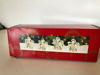 Home For The Holidays Angel Silverplate Ornaments Set of Four