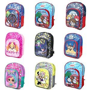 Boys Girls Kids DELUXE Backpack Junior Toddlers Character Rucksack School Bag