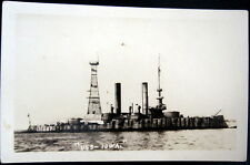 **1900's U.S. NAVY BATTLESHIP ~ U. S. S.  IOWA ~ Real PHoto PC  RPPC