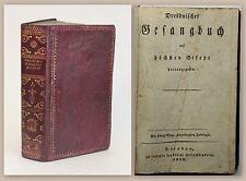 Dresdnisches Gesangbuch 1820 goldgeprägter Leder Religion christliche Lieder xz