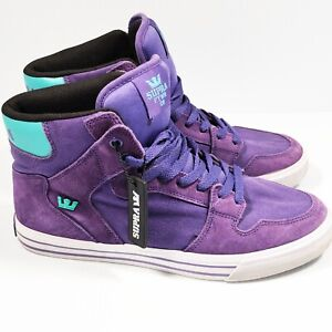 Supra FTWR CO High Top Sneakers Purple Teal Men's Size 9 Rare
