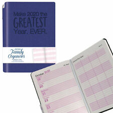 Tallon 2020 A6 Family Organiser Diary and Pen Soft Cover - Blue