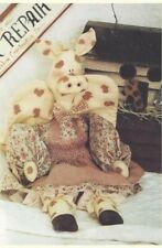 Pattern-Sweet Folk Art Aardvark Angel-Whimsical Design-Twice As Nice- (Oop)