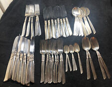 Lot Of Vintage Silver Plated Part Cutlery Set Of 53 Pieces