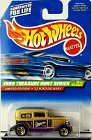 1999 Hot Wheels #937 Treasure Hunt 9/12 '32 FORD DELIVERY Gold w/Gold 5 Spokes