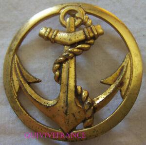 IN13555 - Insigne de béret, Coloniale, Troupes de Marine, doré BICHET