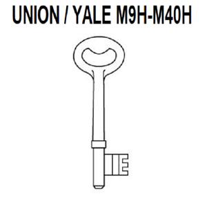 Union Yale 2 Lever Mortice Keys - M9H - M39H Pre Cut Mortice Key