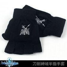 Anime Sword Art Online SAO Half Finger Plush knit Gloves Winter Cosplay Mitten A