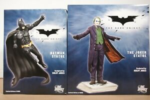 The Dark Knight The Joker+ Batman Statue by Kolby Jukes  Set Pair LE 6000