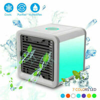 Portable Evaporative Air Cooler Fan USB LED Mini Air Conditioner Cooling Home