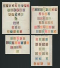 SPANISH PHILIPPINES STAMPS 1880-1899 4 PAGES INC GOOD RANGE OF HABILITADO SURCH