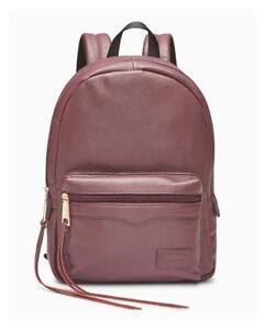 Rebecca Minkoff Medium Burgundy/Wine Leather Backpack