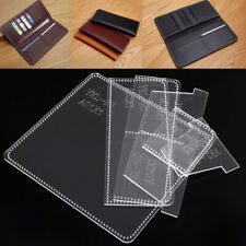 YKL-90 Leather Craft Tool Acrylic Long Wallet Purse Template Pattern Stencil DIY