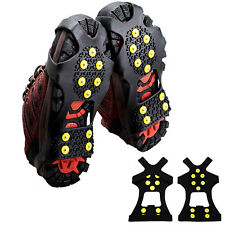 Cleats Anti-Slip Boot Shoes Covers Studded Traction Spike Crampons Snow Hiking