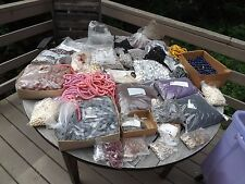 55 POUND LOT New Old Stock Plastic, Lucite, Acrylic BEADS Mostly Imported