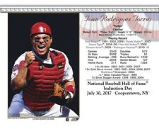 IVAN RODRIGUEZ TEXAS RANGERS 8X10 2017 HALL OF FAME INDUCTION DAY CARD