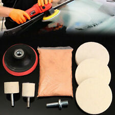 "Cerium Oxide Glass Polishing Kit Windscreen Scratch Remover + Felt + 3"" Pad"
