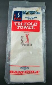 RAM GOLF PGA Tour Tri-Fold Cotton Towel - 16in. X 26 in. NEW SEALED