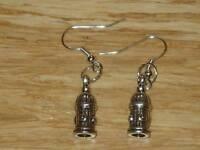 Tibetan Silver Cute Fire Hydrant Charm Earrings