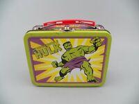 VTG '98 Marvel Comics The Incredible Hulk Mini Tin Metal Lunch Box GUC Free Ship