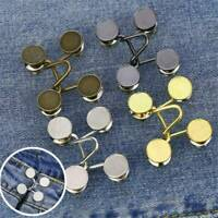 Resuable 27/32MM Nail-free Waist Buckle Waist Closing Adjustable Snap Button AU